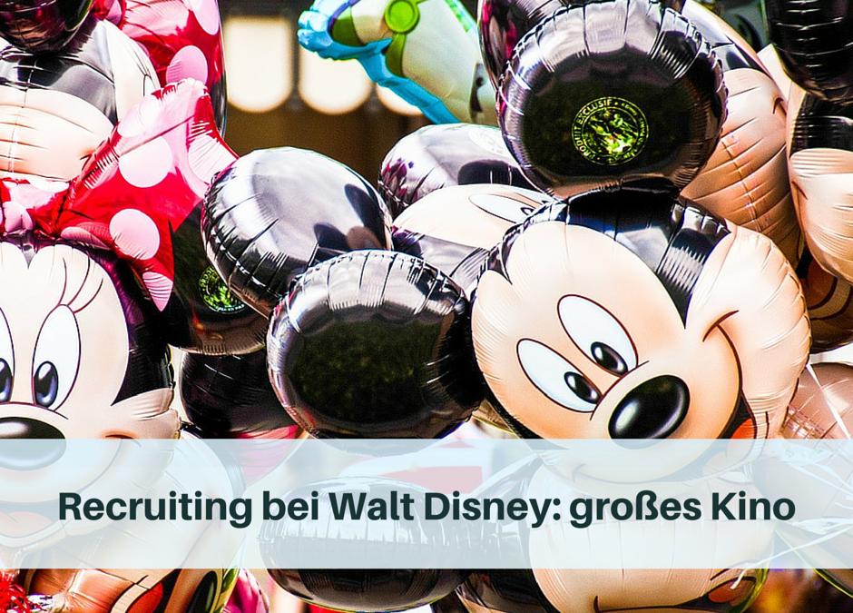 Recruiting bei Walt Disney: großes Kino